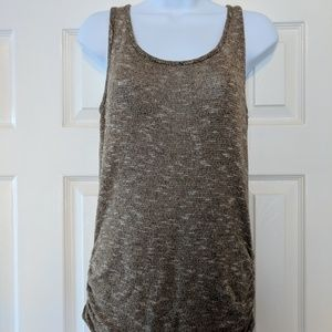 Tops - Super Cute Tan/Taupe/Gold Knit Tank with V Back